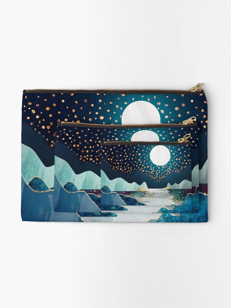 Alternate view of Moon Glow Zipper Pouch