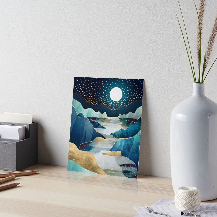 Moon Glow Art Board Print