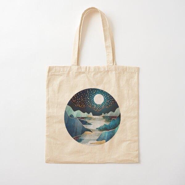 Moon Glow Cotton Tote Bag