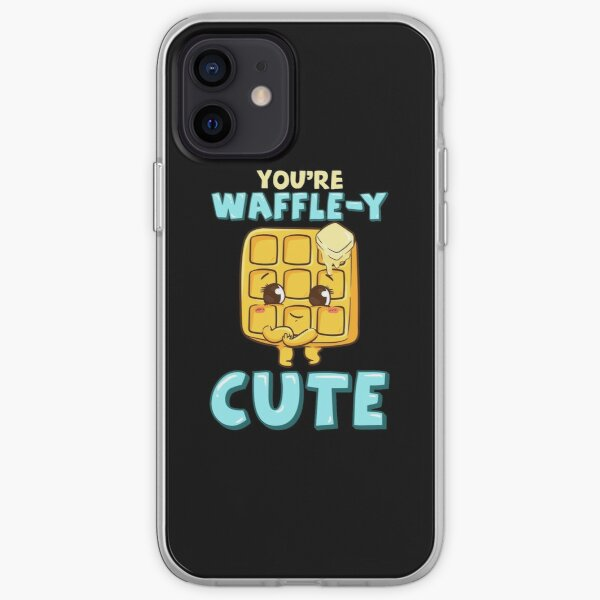 Funny You're Waffle-y Cute Waffle Breakfast Pun iPhone Soft Case