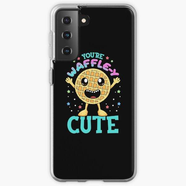Cute & Funny You're Waffle-y Cute Waffle Pun Samsung Galaxy Soft Case