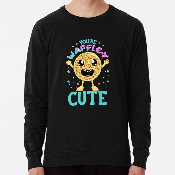 Cute & Funny You're Waffle-y Cute Waffle Pun Lightweight Sweatshirt