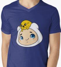 Camiseta de cuello en V Baby Jake y Finn