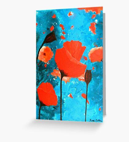 Poppy Paradise Greeting Card