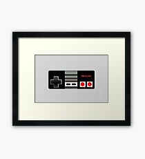 Classic old vintage Retro game controller Framed Print
