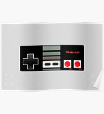 Classic old vintage Retro game controller Poster