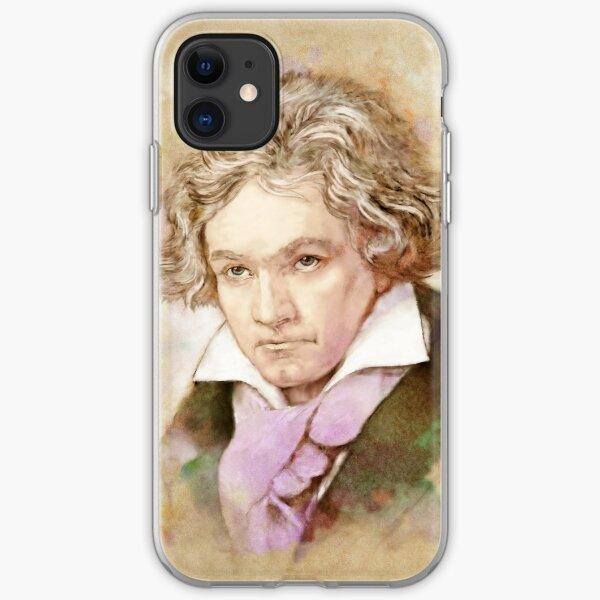 Ludwig van Beethoven im Aquarell Stil iPhone Flexible Hülle