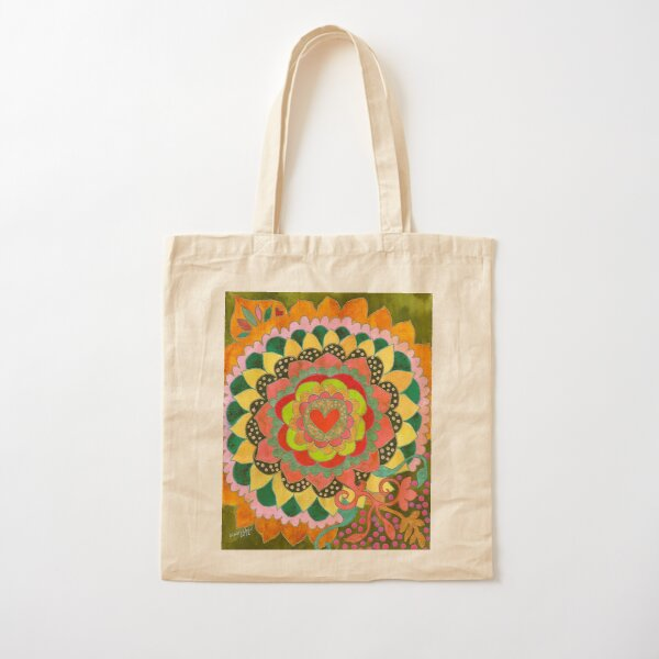 Feral Heart Cotton Tote Bag