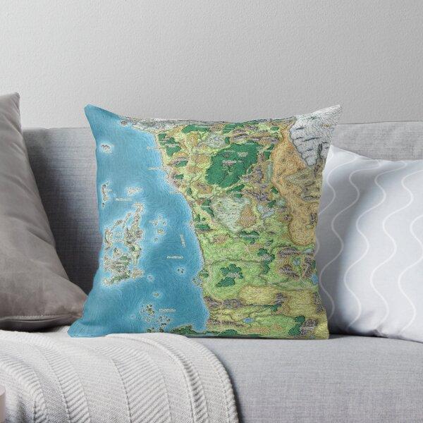 Faerûn map Throw Pillow