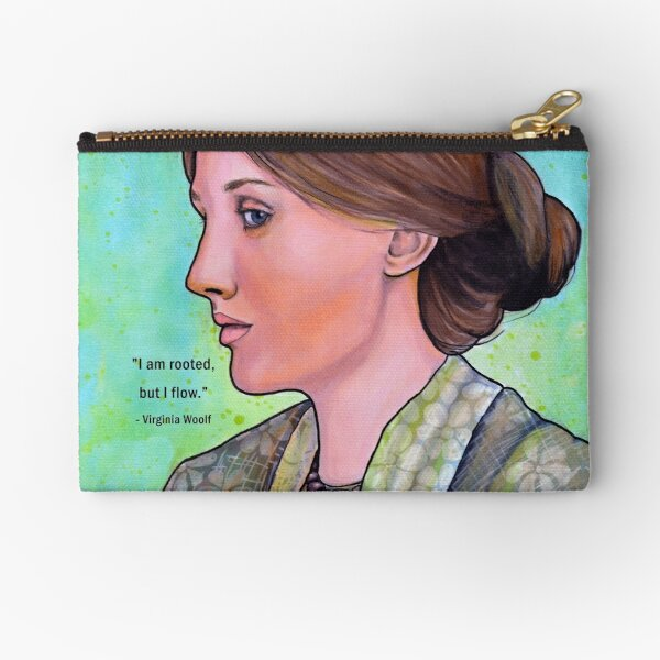 Virginia Woolf - with quote Zipper Pouch
