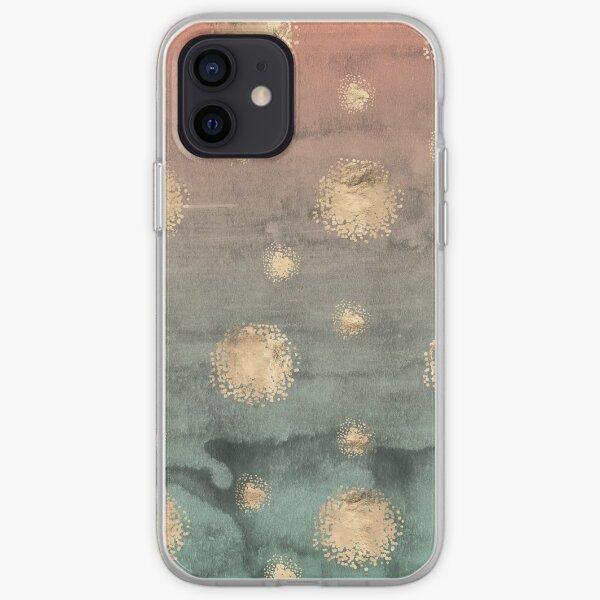 Rose Gold Splatter Dots iPhone Soft Case