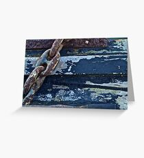 Old Anchor Chain Greeting Card