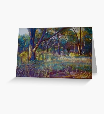 Stringybark in Autumn Light Greeting Card