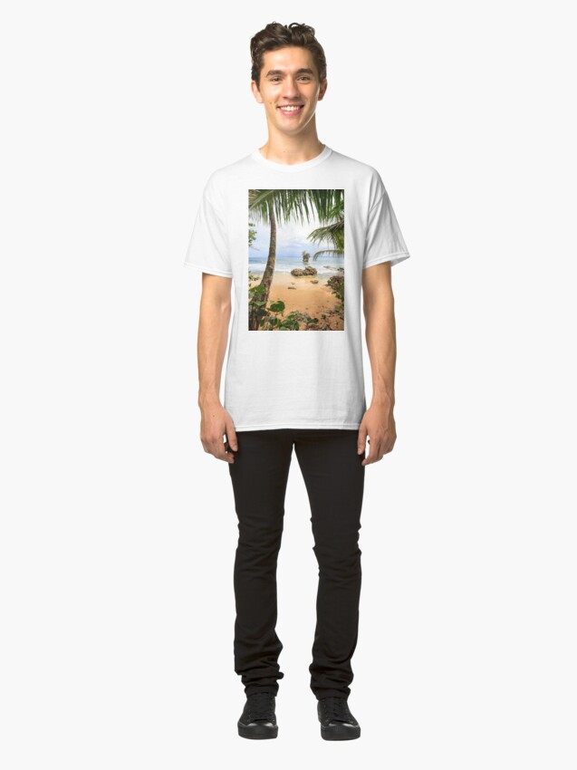 Alternate view of Beach in Manzanillo Costa Rica Classic T-Shirt