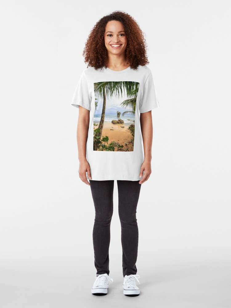 Alternate view of Beach in Manzanillo Costa Rica Slim Fit T-Shirt