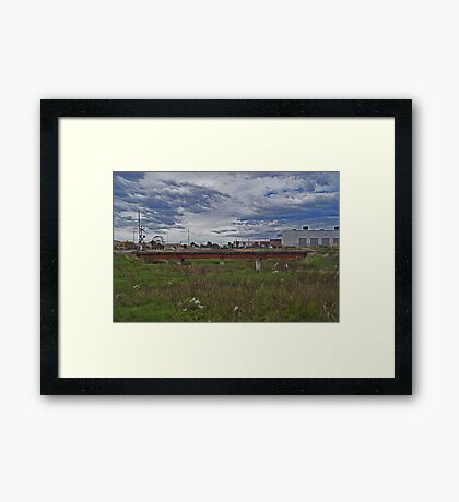 Urban river Framed Print