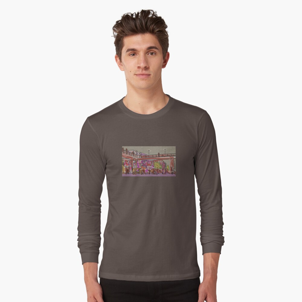 Laxmi Nagar Sketch Long Sleeve T-Shirt