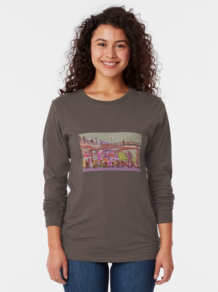 Alternate view of Laxmi Nagar Sketch Long Sleeve T-Shirt