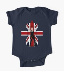 Union Jack British Flag with 12th Doctor One Piece - Short Sleeve