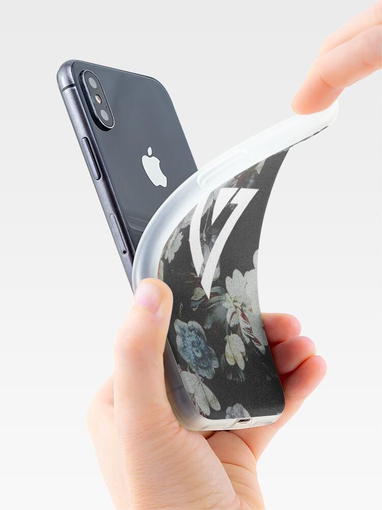 Alternative Ansicht von Schwarz Floral Siebzehn Kpop iPhone und Samsung Fall iPhone-Hülle & Cover