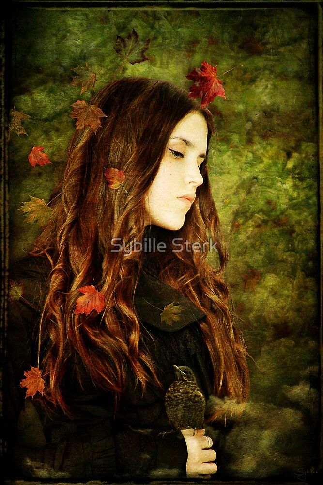 Girl with Blackbird by Sybille Sterk