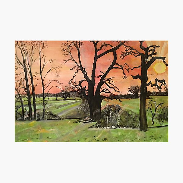 Flaming Skies On A January Afternoon Photographic Print
