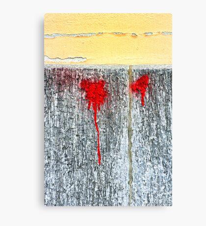 Red blots Canvas Print