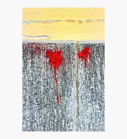 Red blots Photographic Print