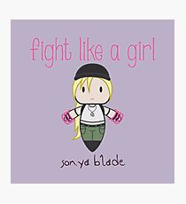 Fight Like a Girl - General Photographic Print