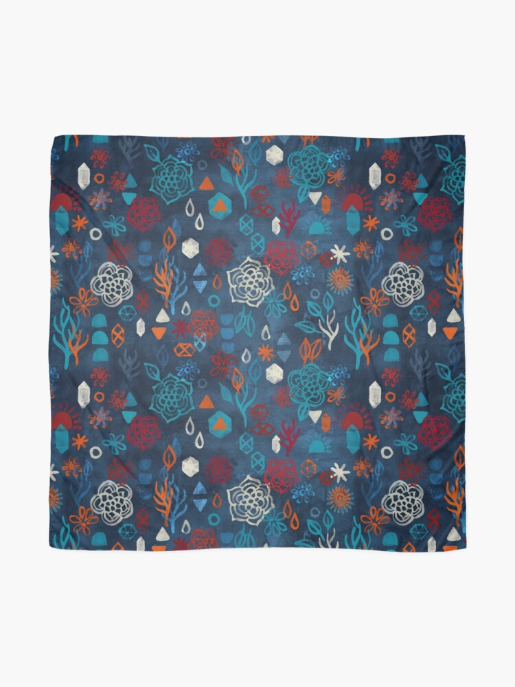 Alternate view of Earth, Water, Fire, Air - a watercolor pattern Scarf