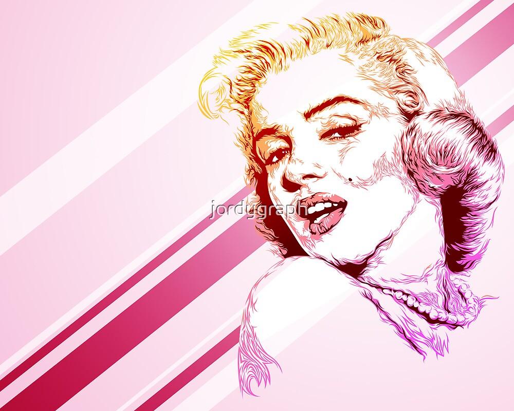Marilyn Monroe portrait by jordygraph