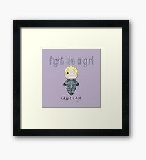 Fight Like a Girl - Daughter of Champions Framed Print