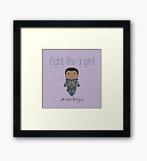 Fight Like a Girl - The Daughter  Framed Print