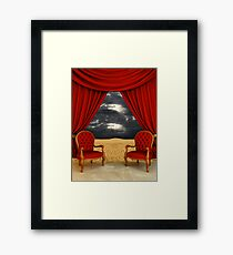 Luxury room on the desert Framed Print