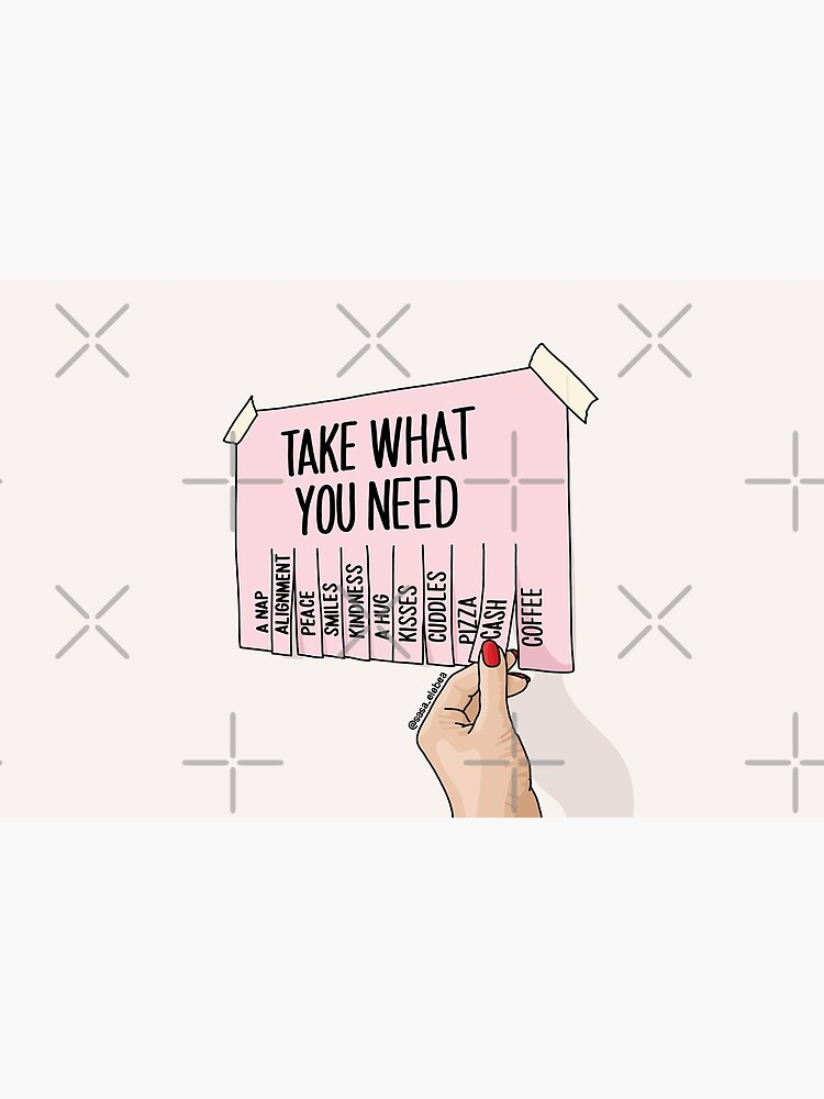 Take what you need by Sasa Elebea by elebea