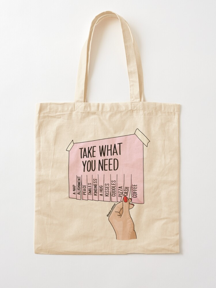 Alternate view of Take what you need by Sasa Elebea Tote Bag