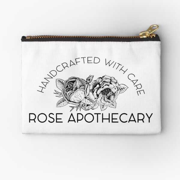 Rose Apothecary: handcrafted Zipper Pouch