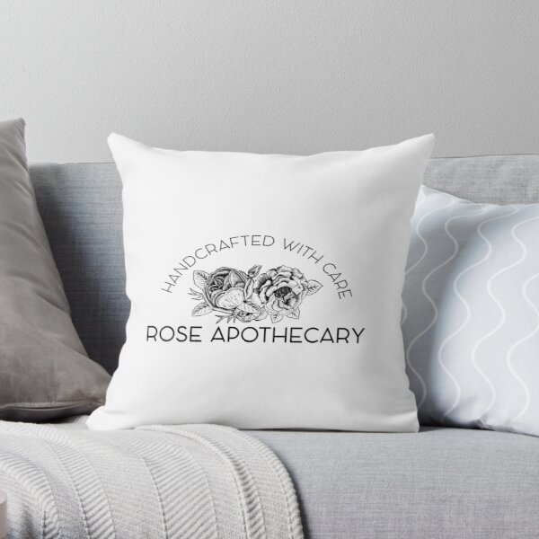 Rose Apothecary: handcrafted Throw Pillow