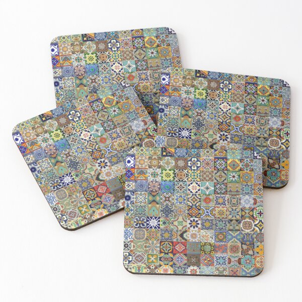 Mexican Tiles Coasters (Set of 4)
