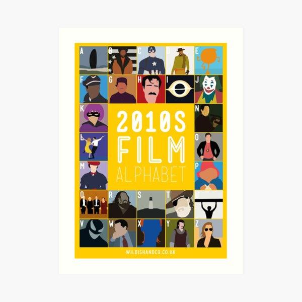 2010s Film Alphabet Art Print