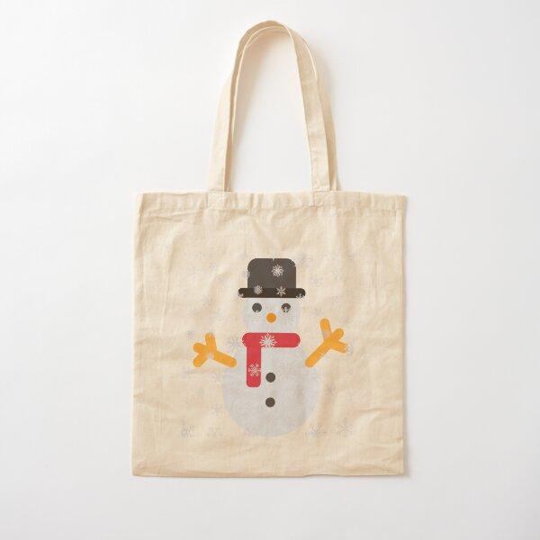 Christmas snowman Cotton Tote Bag