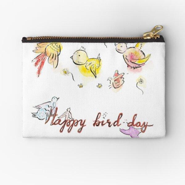 Happy bird-day Zipper Pouch