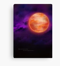 Bloodborne Blood Moon Canvas Print