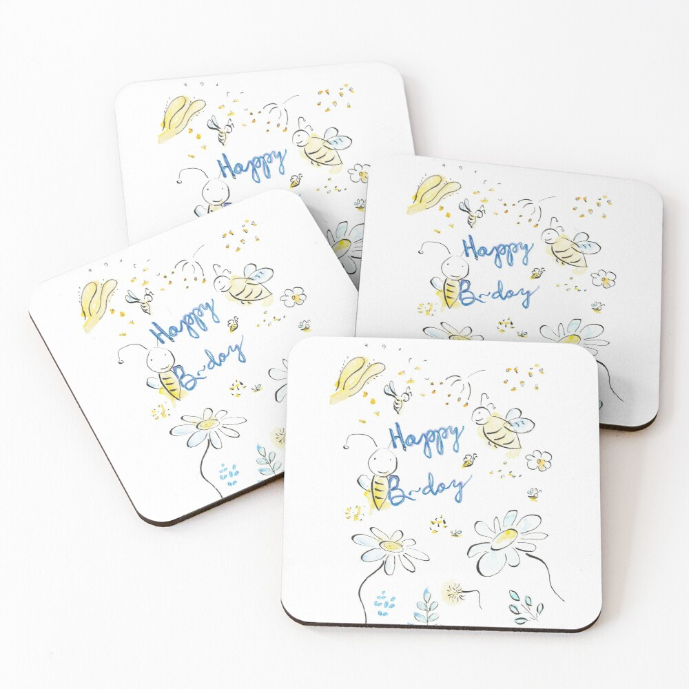 Happy B-day! Coasters (Set of 4)