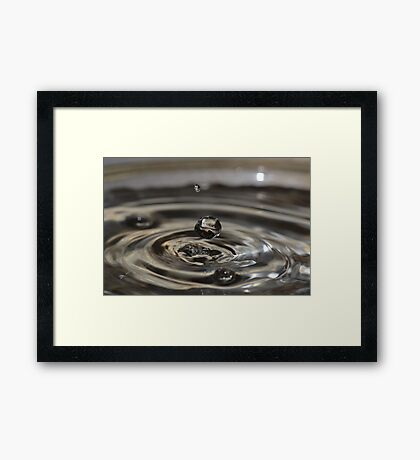 Just Before Impact. Framed Print