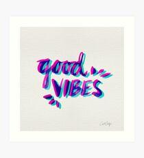 Good Vibes – Magenta & Cyan Art Print