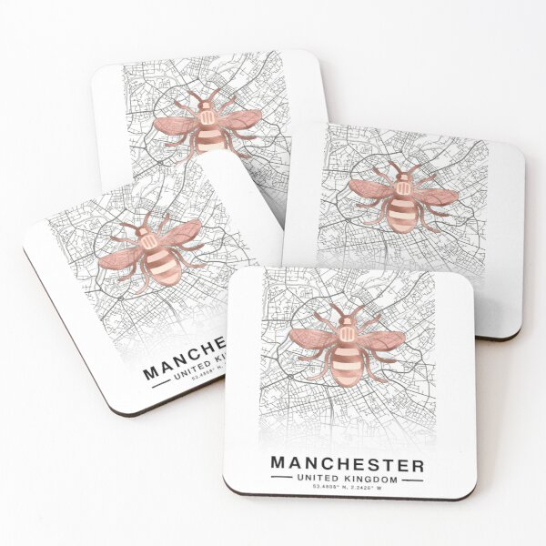 Manchester Bee Coasters (Set of 4)