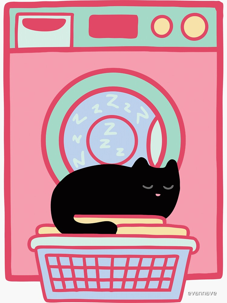 Cat Nap Black Kitten by evannave