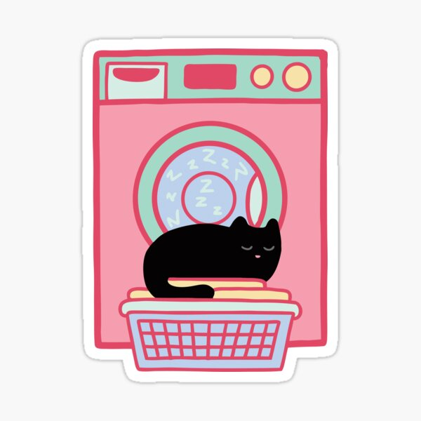 Cat Nap Black Kitten Sticker