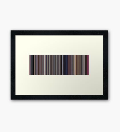 Moviebarcode: A Clockwork Orange (1971) [Simplified Colors] Framed Print